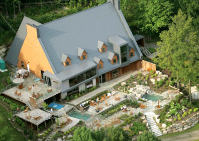 Spa Balnea, restoration of a building and transformation into a spa, 15,000 sq. ft., Bromont.