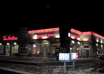Combo Tim Hortons & Burger King, 8,000 sq. ft., La Prairie.